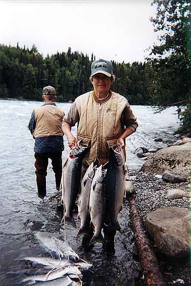 Salmon fishing on the Kenai River