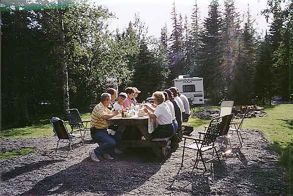 34 spaces in our RV Park each in a private wooded setting